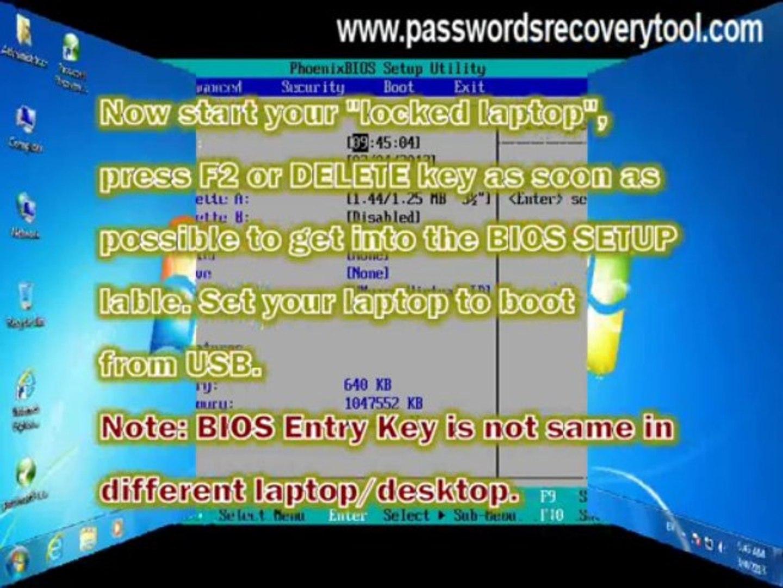 Phoenixbios setup utility password laptop