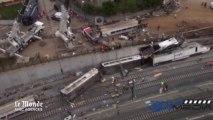 Déraillement d'un train en Espagne : les images aériennes