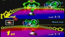 Mario Kart 64 Rainbow Road Gameplay