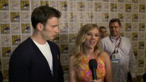 """Chris Evans and Scarlett Johansson Talk About """"Captain America: The Winter Soldier"""""""