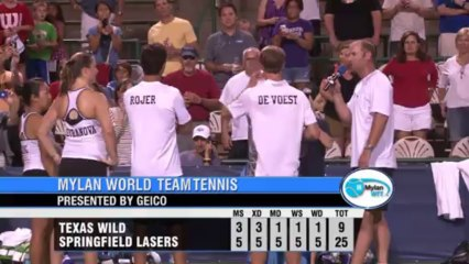 World TeamTennis Highlights: Texas Wild vs Springfield Lasers July 25, 2013