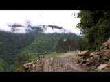 Risky damaged roads from Guptkashi to Tilwara