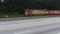 Union Pacific intermodal train through Austell Ga. into Whitaker Yard.
