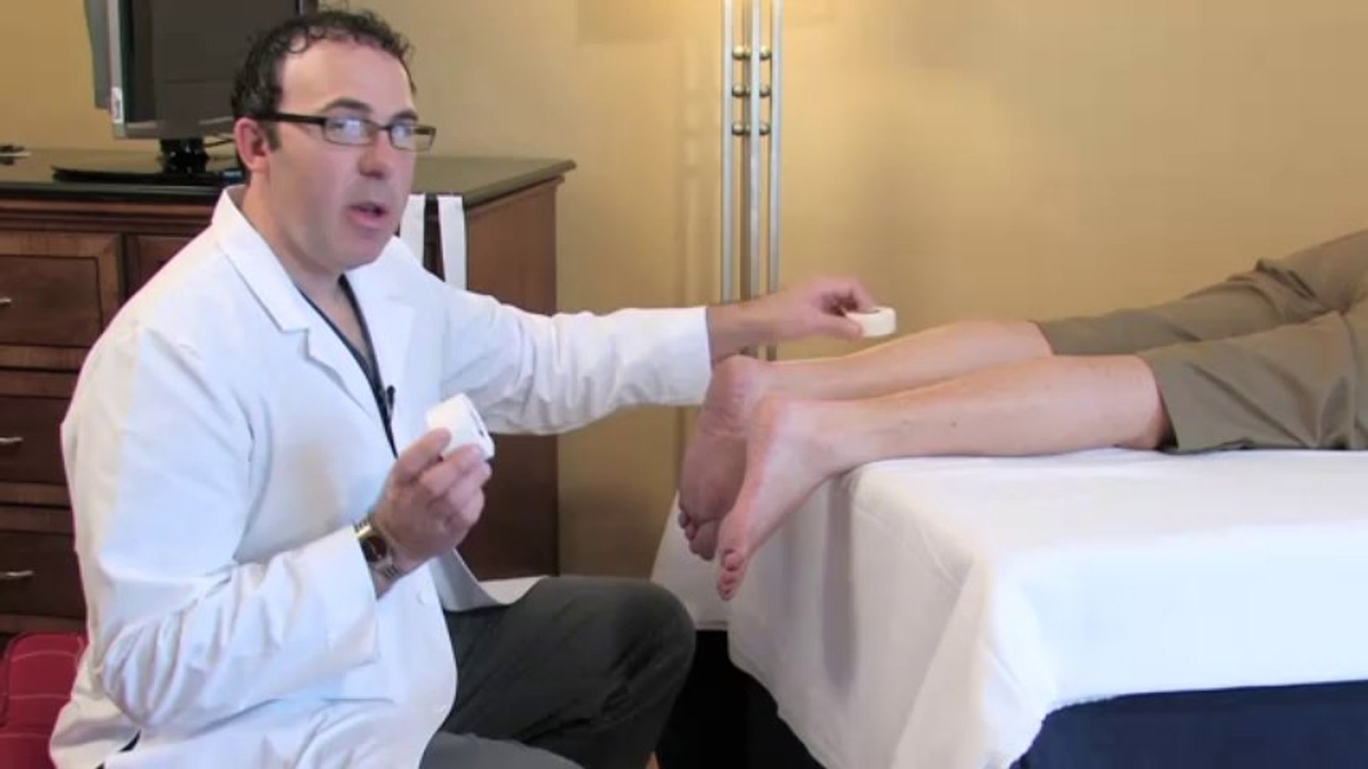 Hand & Foot Pain : How to Strap a Foot for Plantar Fasciitis