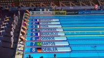 Demi-finale 50m pap' (H) - ChM natation 2013 (Bousquet, Manaudou)