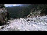 Heavily damaged Sangam Chatti - Gangori road