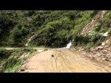 Totally damaged roads of Guptkashi