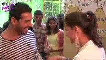 John Abraham & Nargis Fakhri at first look launch o f ''Madras Cafe''