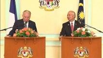 Questions - Réponses avec la presse lors de la conférence de presse commune entre les premiers ministre français et malaisien