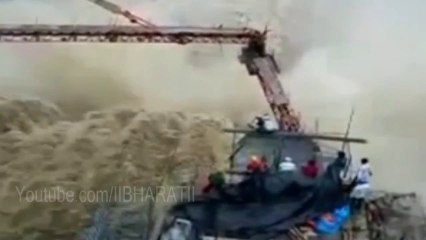 Uttarakhand Flood - Gates of Flooded Dam opened live video in Uttarakhand