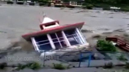 Live Video Uttarakhand Flood - Temple Demolished Live in Ghansali Uttarakhand Flood 2013