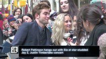Robert Pattinson hangs out with Sia at star-studded Jay Z, Justin Timberlake concert