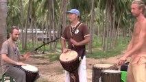 African Djembe rhythms- Zaouli Kuku break (aka Zaouli #2), Kuku djembe solo & Zaouli  slow motion