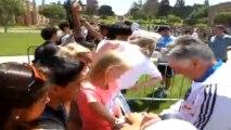 the fans of Casillas Ancelotti Zidane Los Angeles Real Madrid