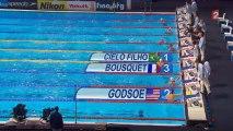 Finale 50m papillon (H) - ChM 2013 natation (Bousquet, Manaudou)