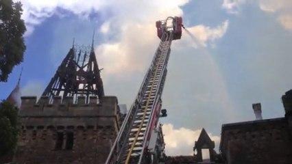 Incendie du château de Paulhac, mardi 30 juillet 2013