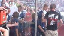 Franck Ribery demande un enfant plus petit pour son entrée dans le stade