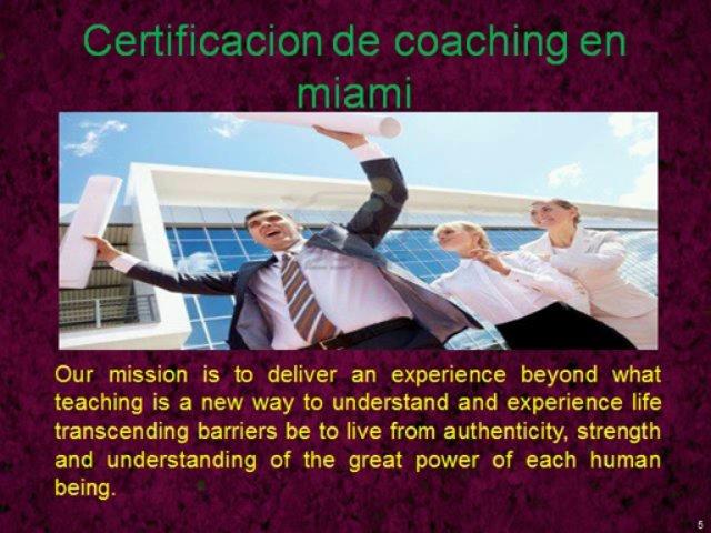 Certificacion En Coaching