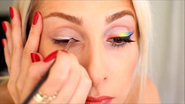"""Amiga Gökkuşağı Makyajı """"Rainbow Make-up"""""""