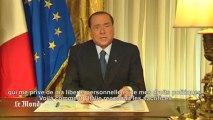"""Berlusconi : """"Un verdict qui me prive de mes libertés personnelles et de mes droits politiques"""""""