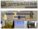 Interior Decorators in Gurgaon @ d-interiors