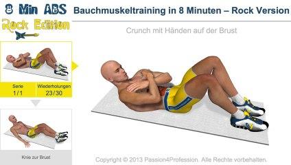 Bauchmuskeltraining in 8 Minuten – Rock Version