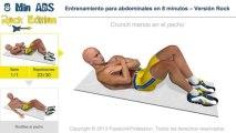 Entrenamiento para abdominales en 8 minutos – Versión Rock