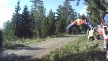 Huge Rally Car jump during last Neste Oil Rally Finland!! Impressive race!!