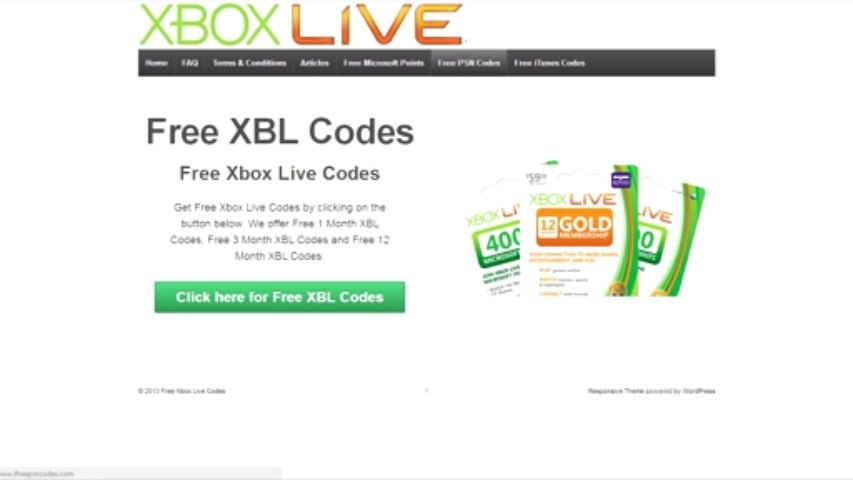 Get Free Xbox Live Codes - New Method!
