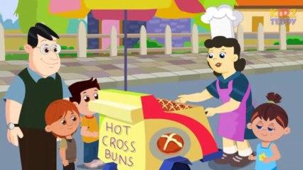 Hot Cross Bun - Nursery Rhymes In English