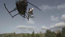 Bob Burnquists Skateboarding form an helicopter!! Dreamland - A Backyard Progression