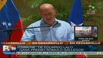 """""""Simone"""" del puertorriqueño Eduardo Lalo gana Premio Rómulo Gallegos"""