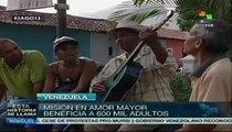 Misión Amor Mayor beneficia a adultos mayores en Venezuela
