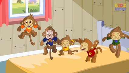 Five Little Monkeys - Nursery Rhyme In English With Full Lyrics