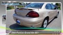 2003 Pontiac Grand Am SE1 - Davidson-Gebhardt Chevrolet, Loveland Denver Boulder