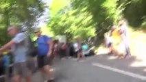 Altercation entre le staff de la Sky et des spectateurs sur le Tour de France 2013