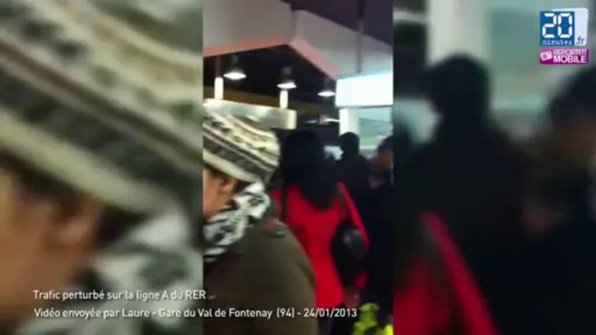 Japonais Val De Fontenay affluence dans le rer a à val de fontenay
