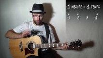 Le rythme à la guitare, les 4 temps en pratique (rythme 02) avec zamzam