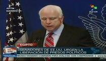 Senadores de EEUU piden liberación de presos políticos en Egipto