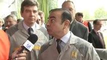 JT: visite d'Arnaud Montebourg, ministre du redressement productif, à Renault Flins.
