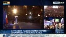 Les premiers mots de François Hollande depuis la place de la Cathédrale de Tulle