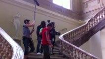 """Le tournage de la série """"Marc Saint-Georges"""" au palais de Fervaques à Saint-Quentin"""
