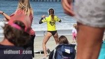Surfer Anastasia Ashley Twerking Warm-Up Dance