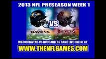 Watch Buccaneers vs Ravens NFL Live Stream August 8, 2013