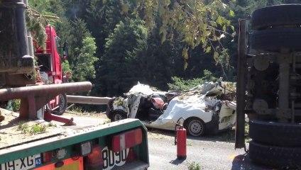 Un mort dans un accident entre un camion et une voiture à Dunières