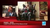 L'ancien Premier ministre Pierre Mauroy est mort