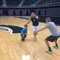 Looking for a Basket-Ball?? Play with a dwarf!! Michigan state basket-ball Team!