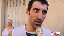 Geoffrey Soupe réagit à l'arrivée de la première étape du Tour de l'Ain