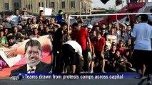 Morsi backers hold football match amid protests