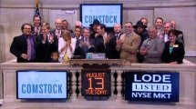 Rushing in: Comstock Mining rings NYSE Opening Bell
